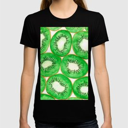 Watercolor kiwi slices pattern T-shirt
