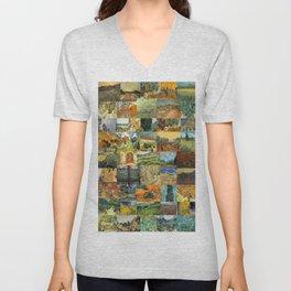 Vincent van Gogh Montage Unisex V-Neck