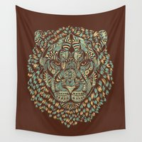 royal Wall Tapestries featuring Lion (Royal) by Norman Duenas