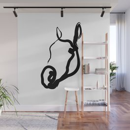 One line horse 191017 Wall Mural