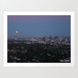 LA Full Moon Art Print