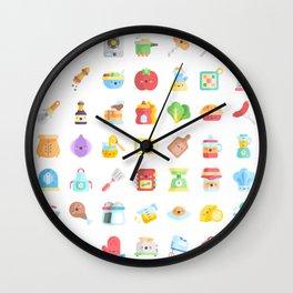 CUTE COOKING PATTERN Wall Clock