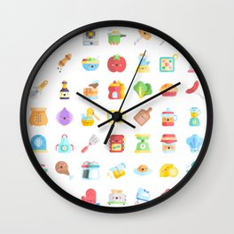 CUTE COOKING PATTERN Wall Clock