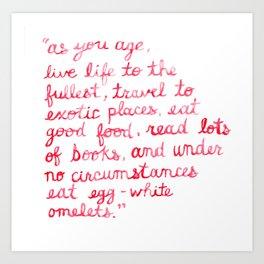 Nora Ephron Art Print
