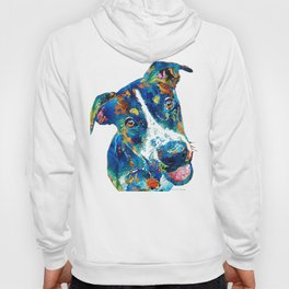 Colorful Dog Art - Happy Go Lucky - By Sharon Cummings Hoody