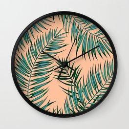 Shade in Apricot Wall Clock