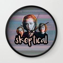 Skeptical Skully Wall Clock