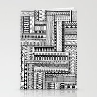 tribal Stationery Cards featuring Tribal  by Ale Ibanez