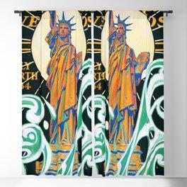 12,000pixel-500dpi - Joseph Christian Leyendecker - Statue Of Liberty - Digital Remastered Edition Blackout Curtain