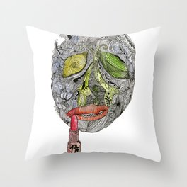 Enfermedad Throw Pillow