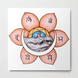 Svadhishthana Yantra (Sacral Chakra) Metal Print