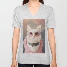 Fashion Portrait Cat Unisex V-Neck