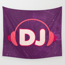 DJ Headphones Rave Quote Wall Tapestry