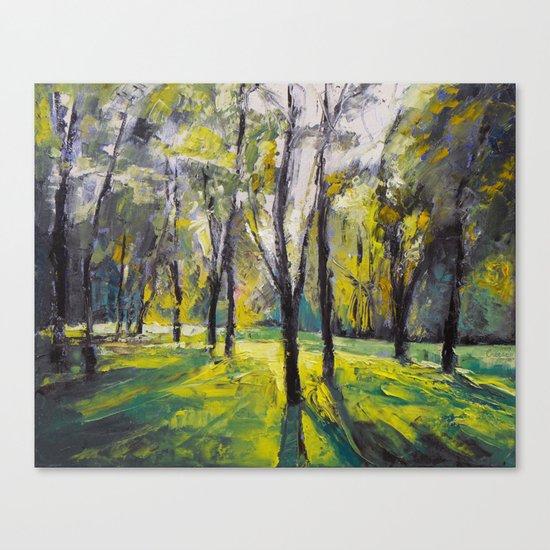 Pontefract Park at Sunset Canvas Print