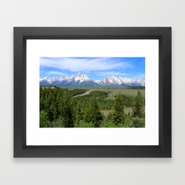 Snake River And The Grand Tetons Framed Art Print