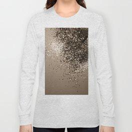 Sparkling Sepia Lady Glitter #1 #shiny #decor #art #society6 Long Sleeve T-shirt
