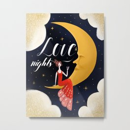 Love Nights 1/3 Metal Print
