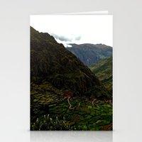 peru Stationery Cards featuring Rural Peru by miranda stein
