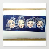 barbie Canvas Prints featuring Barbie by Sam Sardina
