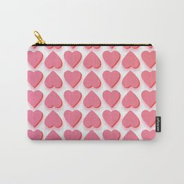 Valentine's Pink Hearts Carry-All Pouch