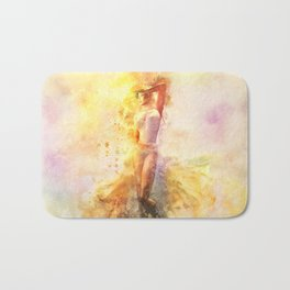 The Girl with the Sun in Her Hair - Eastern Promise Bath Mat