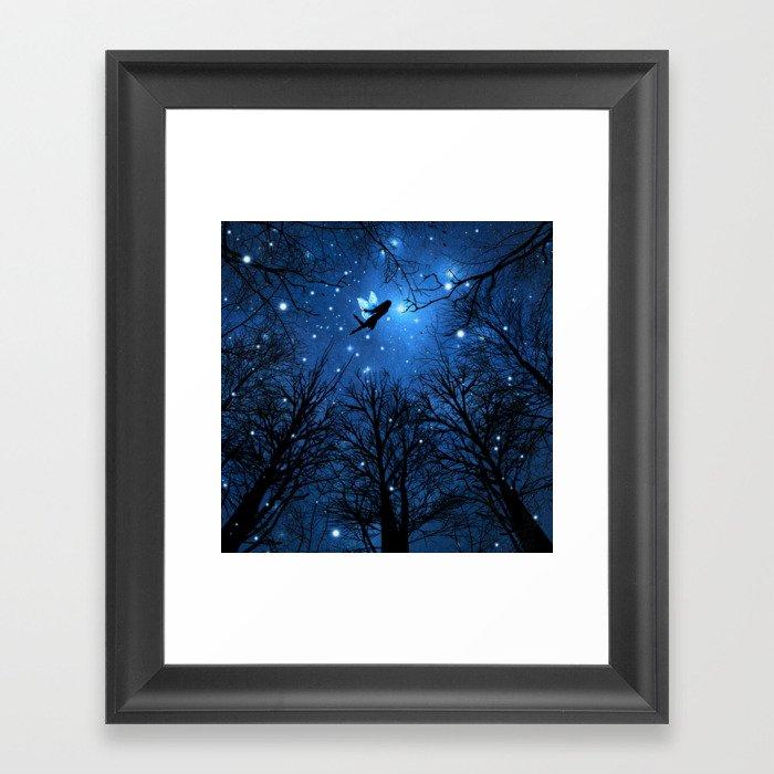Wisdom Of The Night -The Blue Fairy Gerahmter Kunstdruck