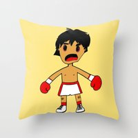 rocky Throw Pillows featuring ROCKY by Christophe Chiozzi