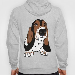 A Dog Mom and Her Basset Hound Hoody