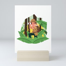Exploring The Jungle Mini Art Print