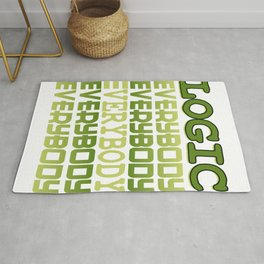 Cool awesome and green tee design for logic fanatics out there! Makes a nice gift!  Rug