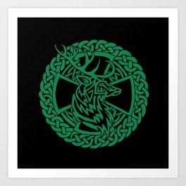 Celtic Nature Deer Art Print
