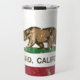 Oxnard California Republic Flag Distressed Travel Mug