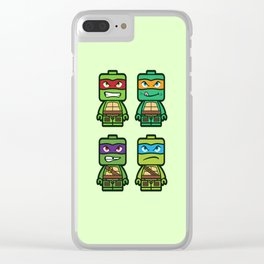 Chibi Ninja Turtles Clear iPhone Case