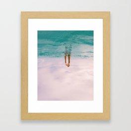 In a sea of clouds... Framed Art Print