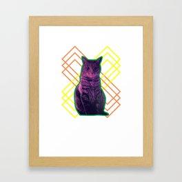 Momo the Cat Framed Art Print
