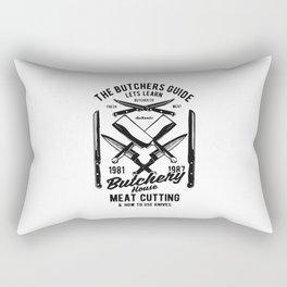 the butchers guide Rectangular Pillow