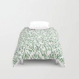 Sentences of Love Green Duvet Cover