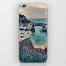 Grey Clouds Above The Ferocious Water  iPhone & iPod Skin