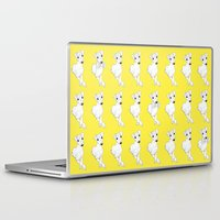 puppies Laptop & iPad Skins featuring whippet puppies  by Emese M