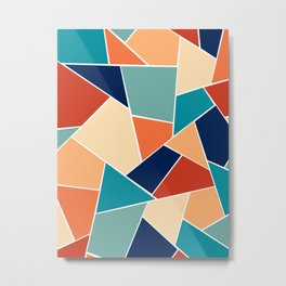 Retro Summer Geometric Glam #1 #geo #decor #art #society6 Metal Print