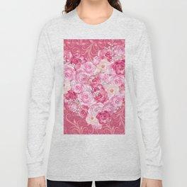 Roses Heart Pattern 06 Long Sleeve T-shirt