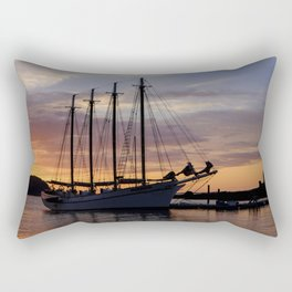 Schooner at sun rise Rectangular Pillow