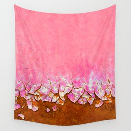 Pink and Rust Wall Tapestry