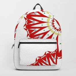 Mandala with colon cancer ribbon Backpack