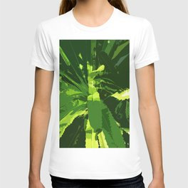 Green Leafes Abstract T-shirt