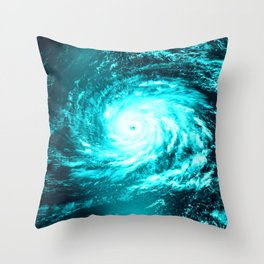 WaTeR Aqua Turquoise Hurricane Throw Pillow