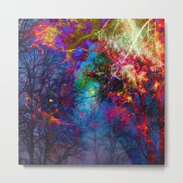 Colorful fiber  Metal Print