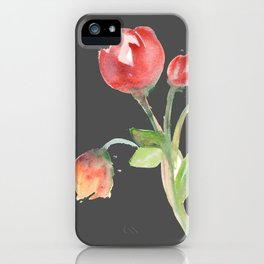 tulips (version #2) iPhone Case