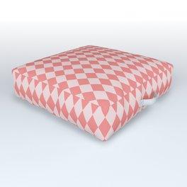 Coral Harlequin Outdoor Floor Cushion