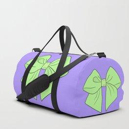 Spring Green Vector Bow Duffle Bag